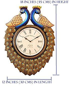 dc147fb954d Buy Vintage Clock Handicraft Double-Side Wall Clock Online at Low Prices in  India -
