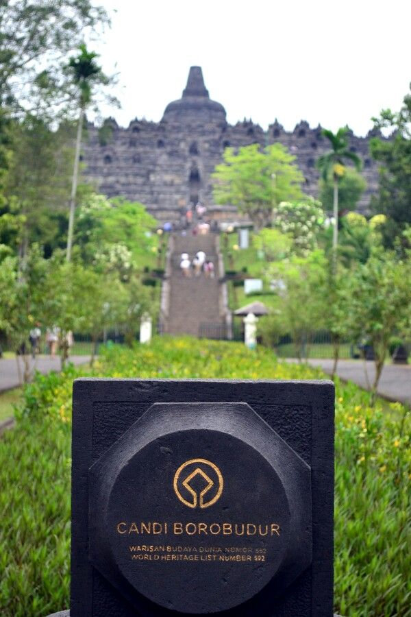 The Borobudur, one of the World heritage laid in Indonesia..