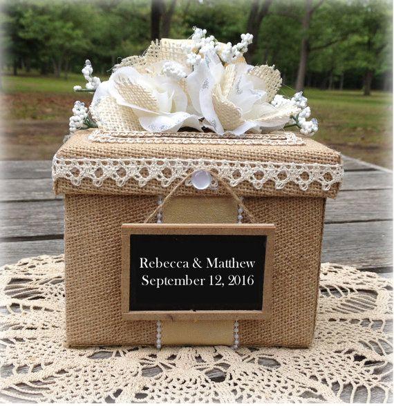 Ring Box Wedding Holder Rustic Gift Pillow Keepsake Band Set Rings