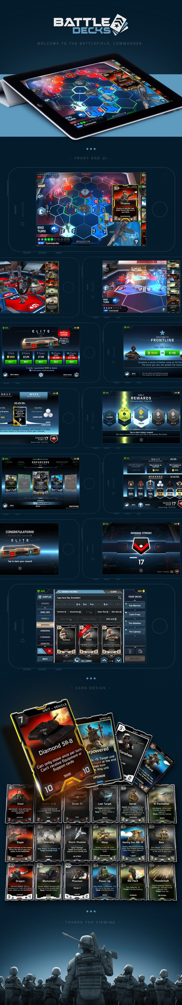 iOS Future Military Card Battling game