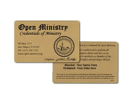 how to become a minister online for free
