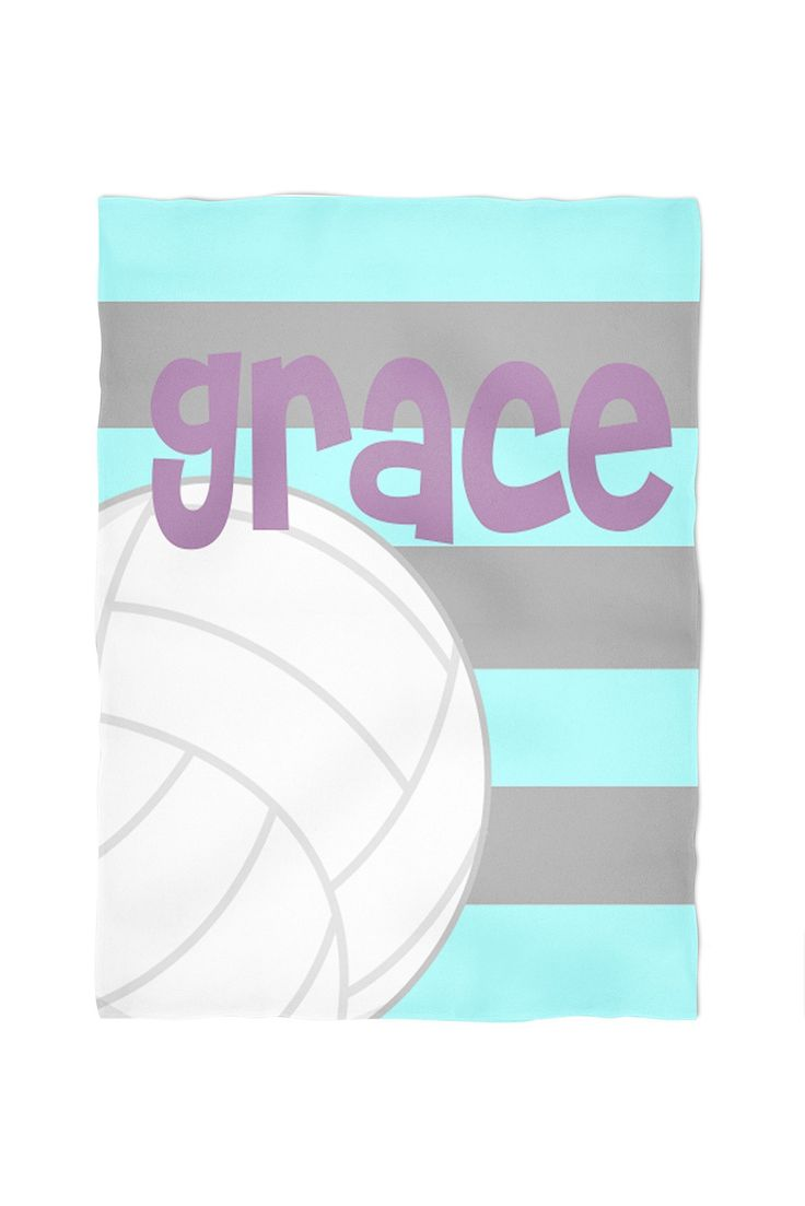 Volleyball Personalized Throw Blanket. Cuddle up with one of our personalized, super soft blankets. You choose between our standard, soft fleece or the super soft, plush furry fleece. Both are printed using water based eco friendly dyes. They come in three sizes: small (40x30), medium (60x50) or large (80x60). The standard fleece is printed on one side, as the plush is printed on both. All are machine washable and sure to be a family favorite.