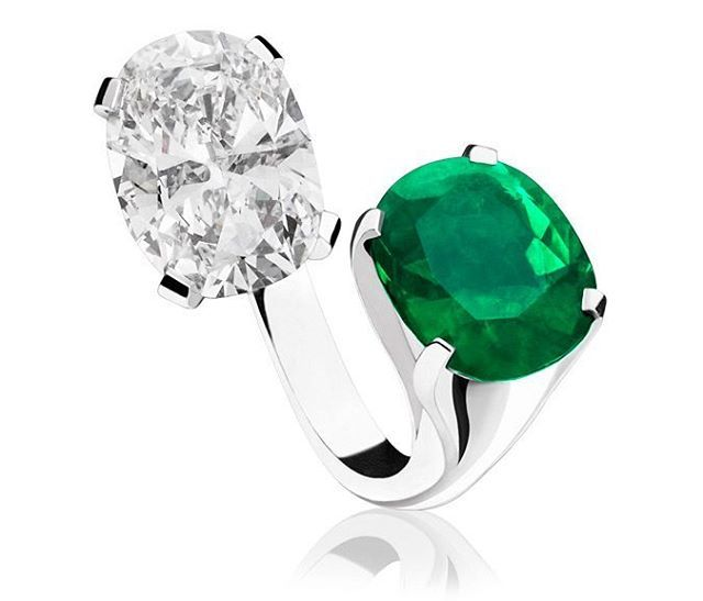 a beautiful u0027toi et moiu0027 ring by with diamond and