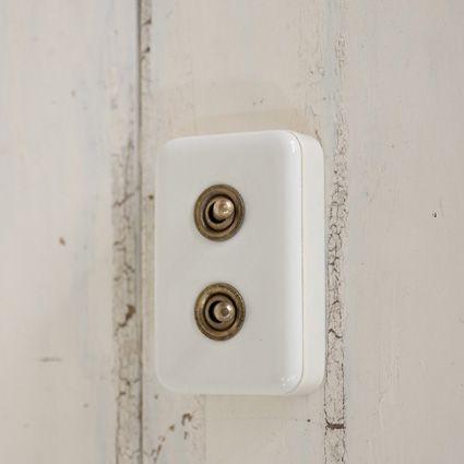 【送料無料】 陶器ダブルスイッチ スイッチプレート (Switch plate)【楽天市場】