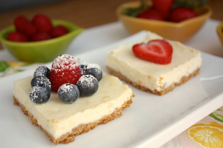 Lemon Cheesecake Squares with fresh fruit - The Foodie Affair #dessert ...