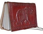 Leather Vintage Hand Made Paper Journal Notebook Diary Covered Traditional India