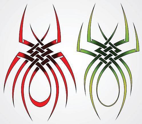 2 Spider Tattoo Designs Pinstripe Ideas Pinterest