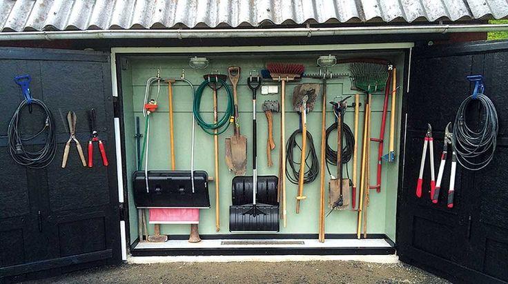 Peters verktyg fick en ny smart förvaringsplats i garaget.