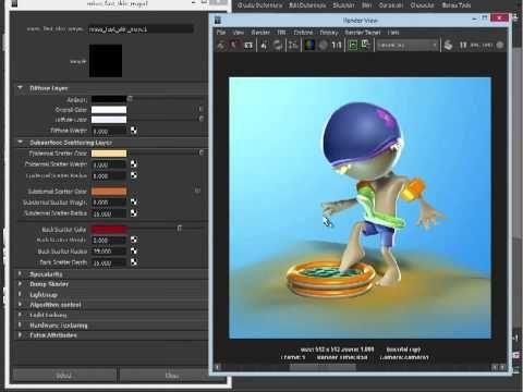 Maya tutorial: Enhance skin shaders with SSS - YouTube