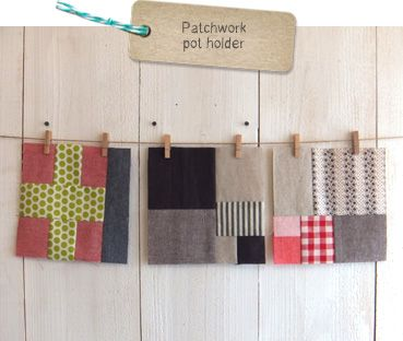 handmade*zakka patchwork pot holder