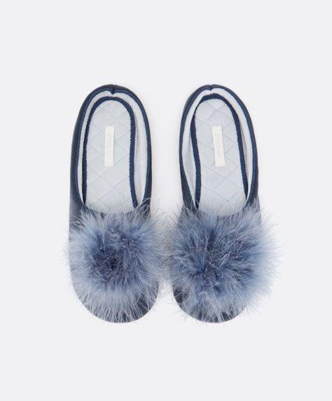 Marabu fluffy slippers - OYSHO
