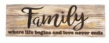 Family Decorative Sign