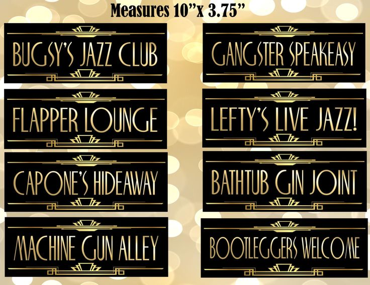 PRINTABLE Gangster Street Sign,Gatsby party decoration, Roaring 20s Art deco,Wedding Sign, Wedding Decor, Dollfaces, Old Sport by inkmebeautiful on Etsy https://www.etsy.com/listing/239994181/printable-gangster-street-signgatsby