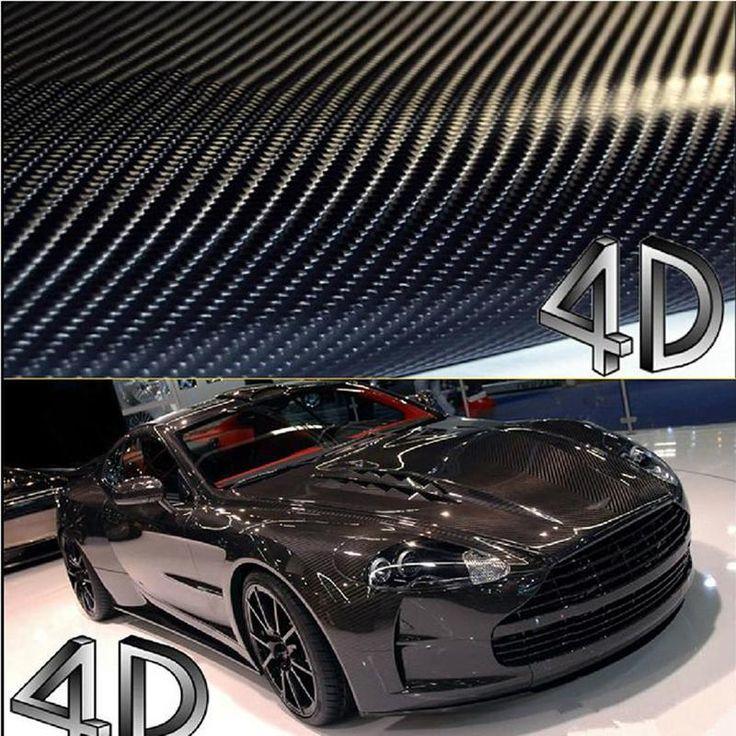 200センチ* 40センチ車スタイリング4d炭素繊維ファイバービニールフィルムオートバイカーアクセサリー3メートル車のステッカーとデカール防水ラップ