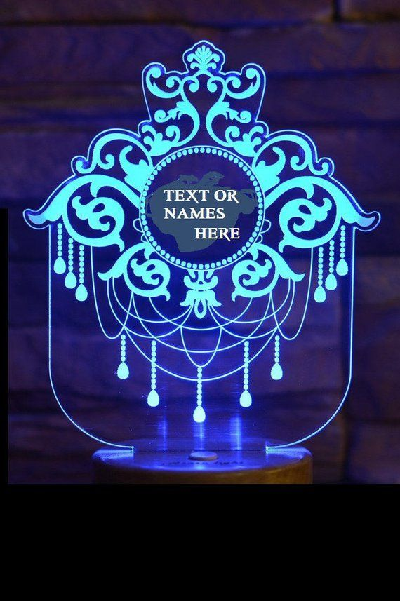 Dreamcatcherall Occasion Giftpersonalized 3d Illusion 7 Etsy In 2020 3d Illusions Color Changing Led 3d Led Light