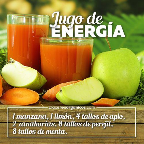 Jugo de energía, receta, zanahoria