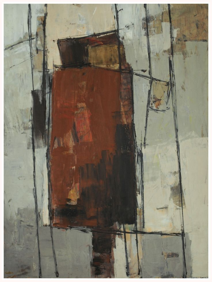 Mid-20th century modern British abstract painting by Robert Sadler