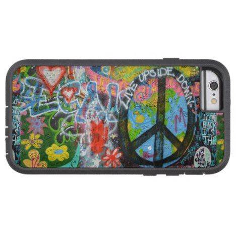 Live Upside Down Peace Sign Wall Tough Xtreme iPhone 6 Case