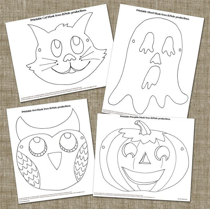 Printable Halloween Mask Art Activity