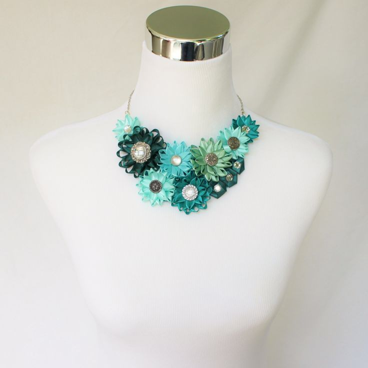 Green Necklace, Teal Necklace, Aqua Necklace, Jade Necklace, Turquoise Necklace, Teal Jewelry, Teal Green Necklace, Flower Cluster Necklace by PetalPerceptions on Etsy https://www.etsy.com/listing/202390963/green-necklace-teal-necklace-aqua