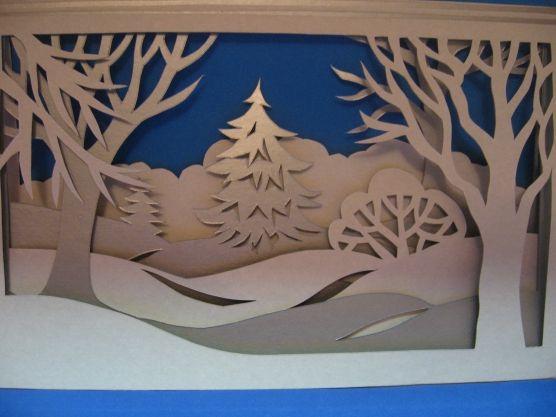 Мастер-класс бумажного тоннеля.  Бумажный тоннель «Зимний пейзаж» Фото