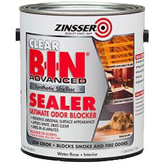 Zinsser® B-I-N® Advanced Synthetic Shellac Sealer Clear - cleans with water instead of ammonia and isn't made from bugs (?!)