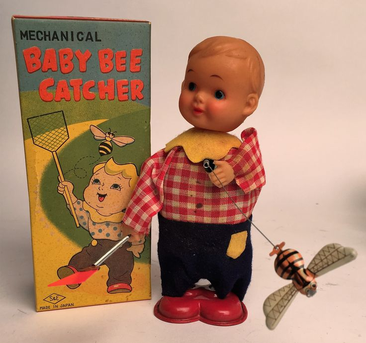 Vintage Japan Baby Bee Catcher Wind Up
