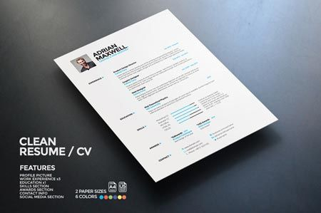 Creativemarket Clean Resume 22469