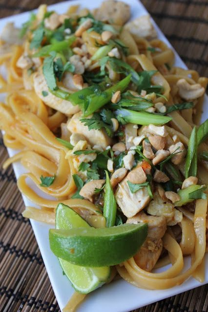 Deals to Meals: Simple Pad Thai must use lime, not lemon, needs the fish sauce and the sweet chili sauce.