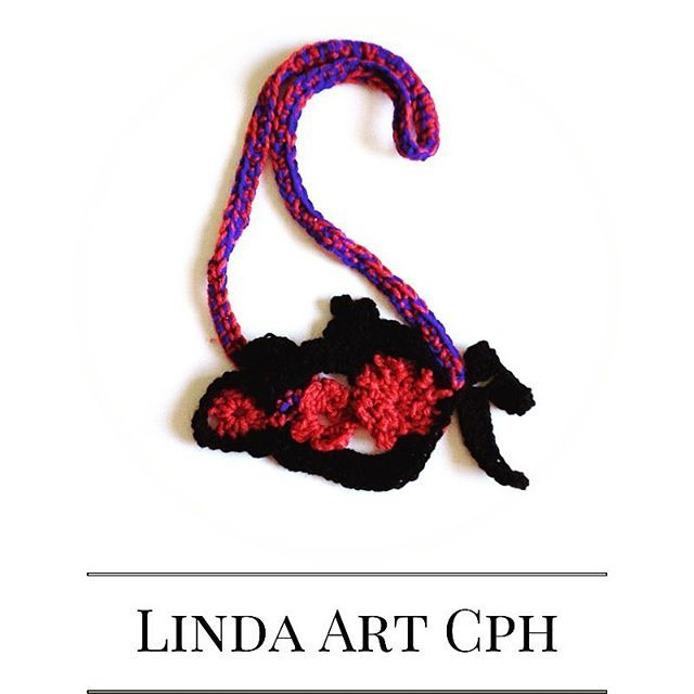 Freeform crochet #necklace