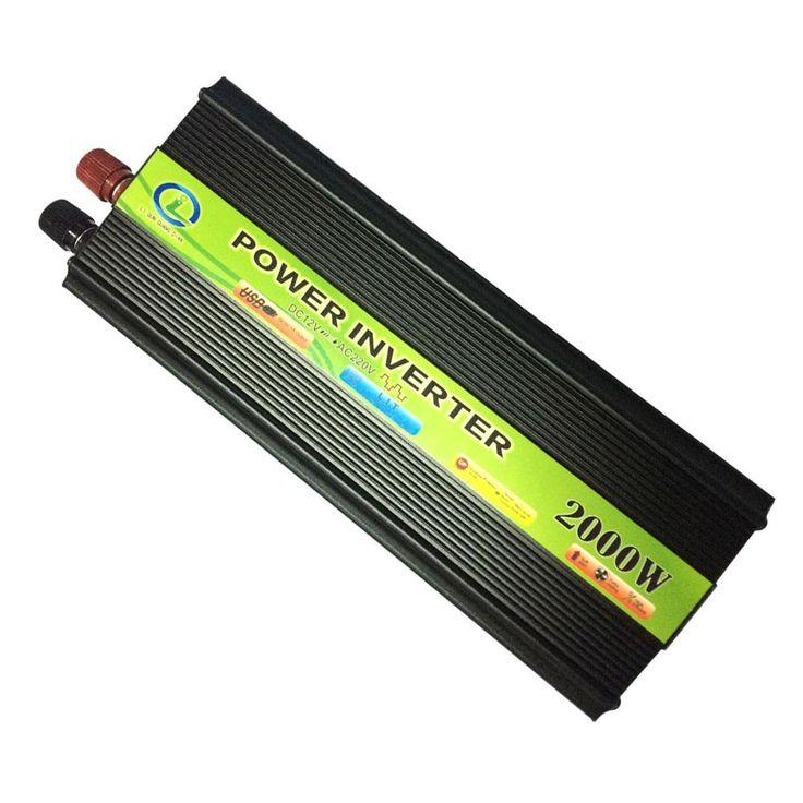 2000W Inverter Car Vehicle Voltage Inversor USB DC 12V to AC 220V Power Inverter Adapter Converter Car Travel Convert 12 B 220 B