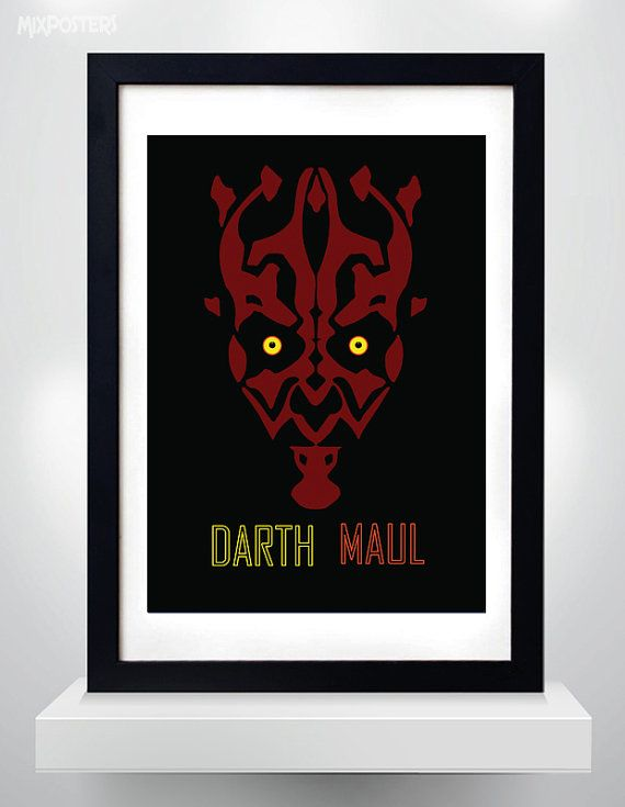 DARTH MAUL, Star Wars, Wall Art Print Poster (selectable size)