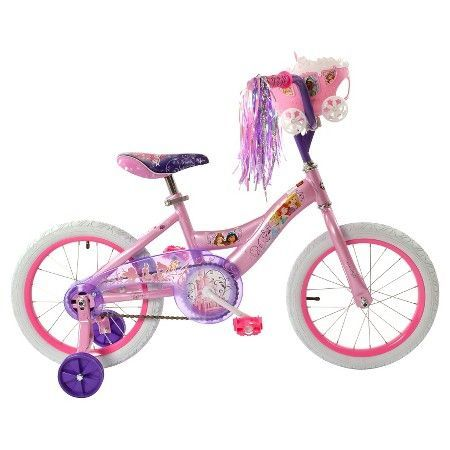 Blue dress disney princess bike