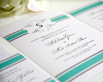 Vintage Wrap Wedding Invitations