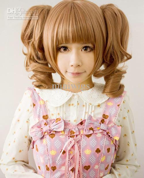 Lolita/anime cosplay hair