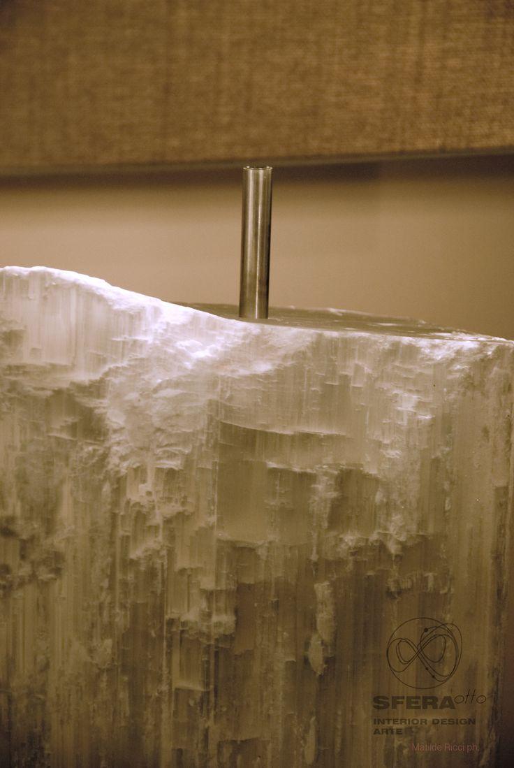 Selenite lamp by CRAVT Original  #lamp #lighting #CRAVT #minerals