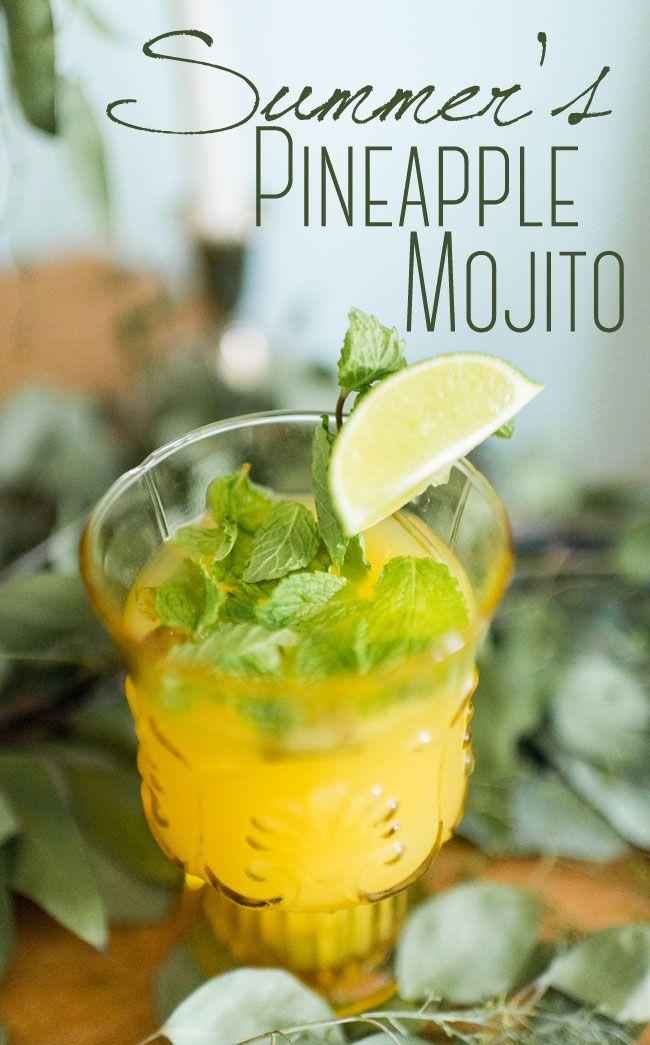 Tart & Sweet Pineapple Mojito Summer Specialty Cocktail Recipe http://storyboardwedding.com/pineapple-mojito-summer-specialty-cocktail-recipe/