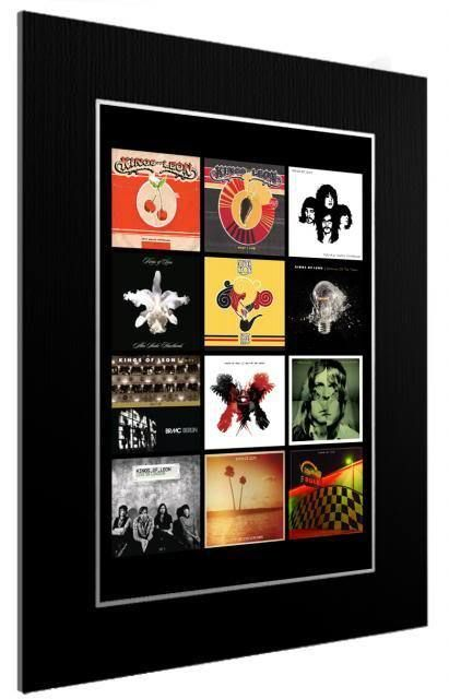 MOUNTED / FRAMED PRINT KINGS OF LEON DISCOGRAPHY - 2 SIZES - POSTER GIFT ARTWORK