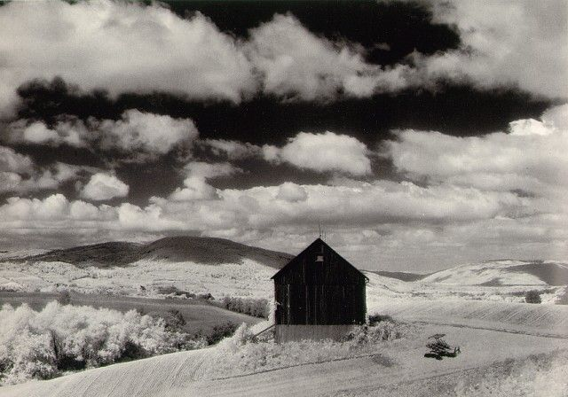 MINOR WHITE. Barn and Clouds, in the Vicinity of Naples and Dansville, New York, 1955