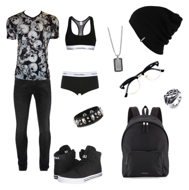 """""""Sexy lesbian skull"""" by emo69 on Polyvore featuring Patagonia, Alexander McQueen, Calvin Klein Underwear, Supra, John Hardy, Topman and Burberry"""