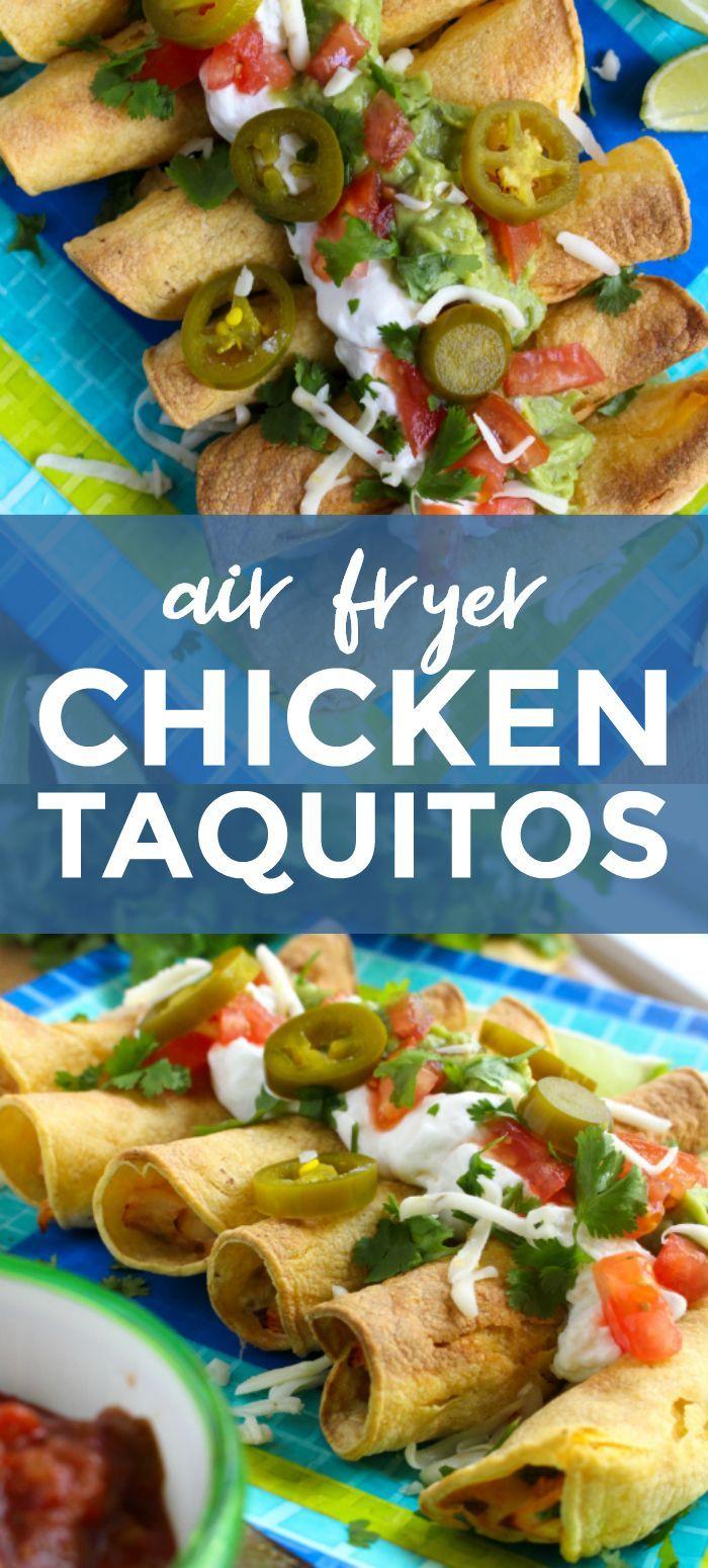 Air Fryer Chicken Taquitos in 2020 Chicken taquitos
