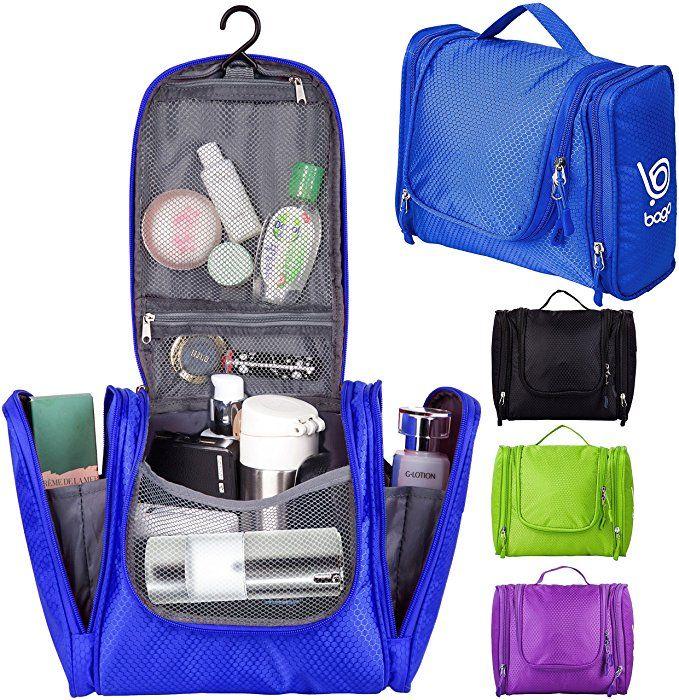 42f4fd3bca Amazon.com  Bago Hanging Toiletry Bag For Men   Women - Toiletries Travel  Organizer (D Blue)  Clothing