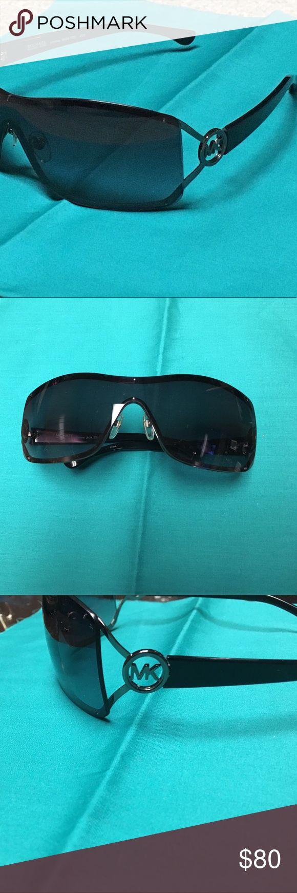 Michael Kors sunglasses NEW & GREAT condition Michael Kors sunglasses NEW & GREAT condition. gunmetal hardware, black sides, MK logo on sides MICHAEL Michael Kors Accessories Glasses