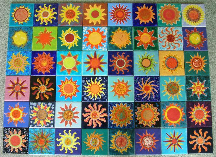 SUNBURSTS - Abstract Suns Series III                    www.theomaret.artspan.com