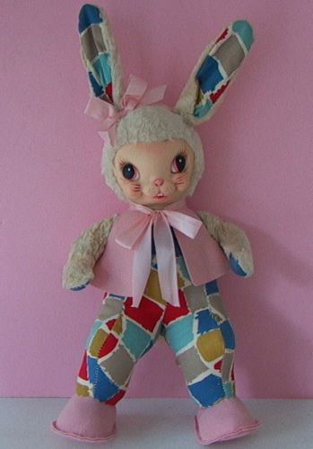 Knickerbocker Rubber Face Doll With Cloth