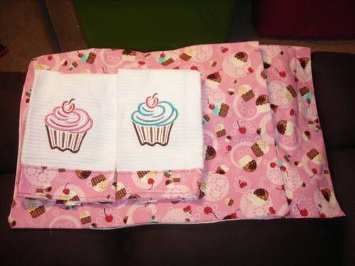 Cupcake Curtains And Towels By Texscrapper