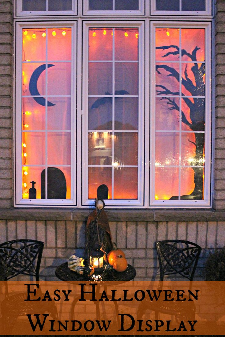 Vintage halloween window decorations - Jenn S Random Scraps November Easy Halloween Window Display Shared At Brag About It Link