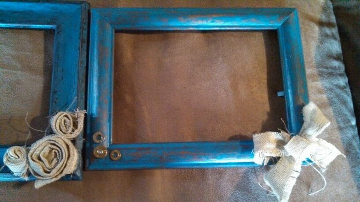 Teal bullet picture frame diy gift country chic