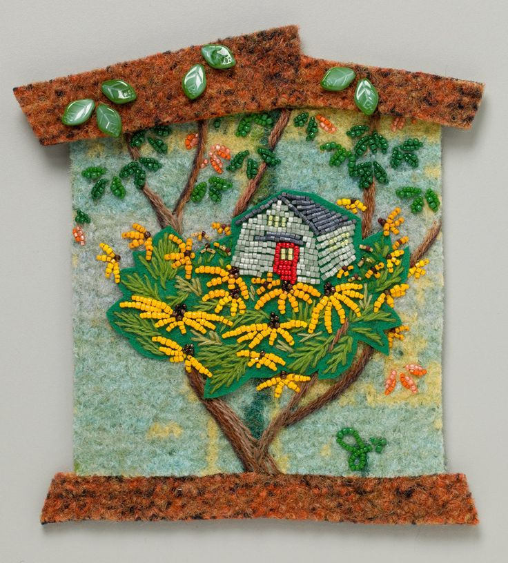 Jo Wood Nested from the Meanings of HOME collection of bead art