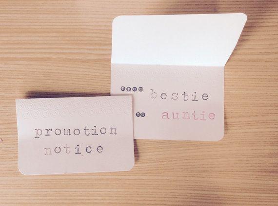 Promotion Notice! Pregnancy Announcements